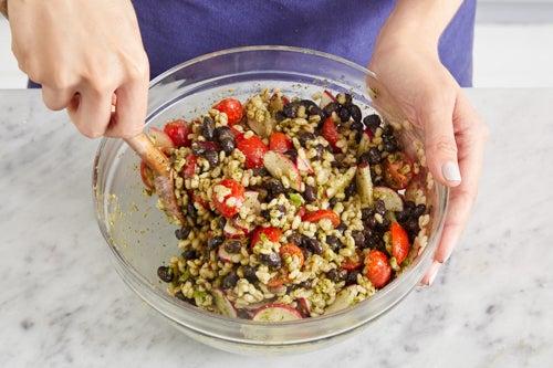 Make the barley salad & serve your dish: