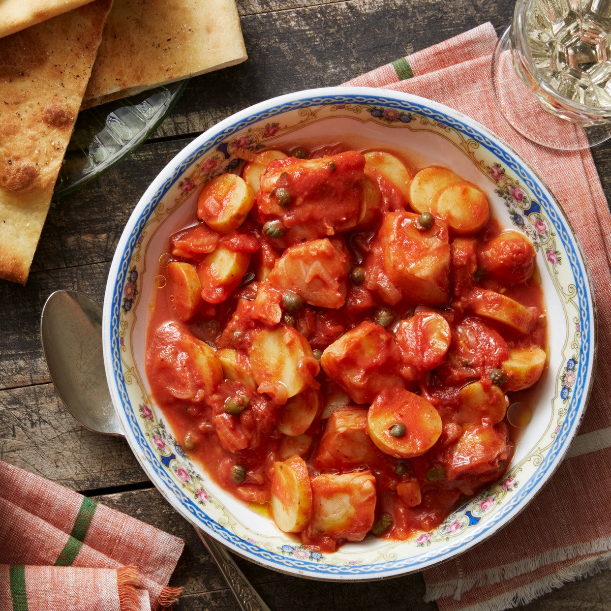 Recipe southern italian cod stew with pizza bianca blue for Southern fish stew recipe