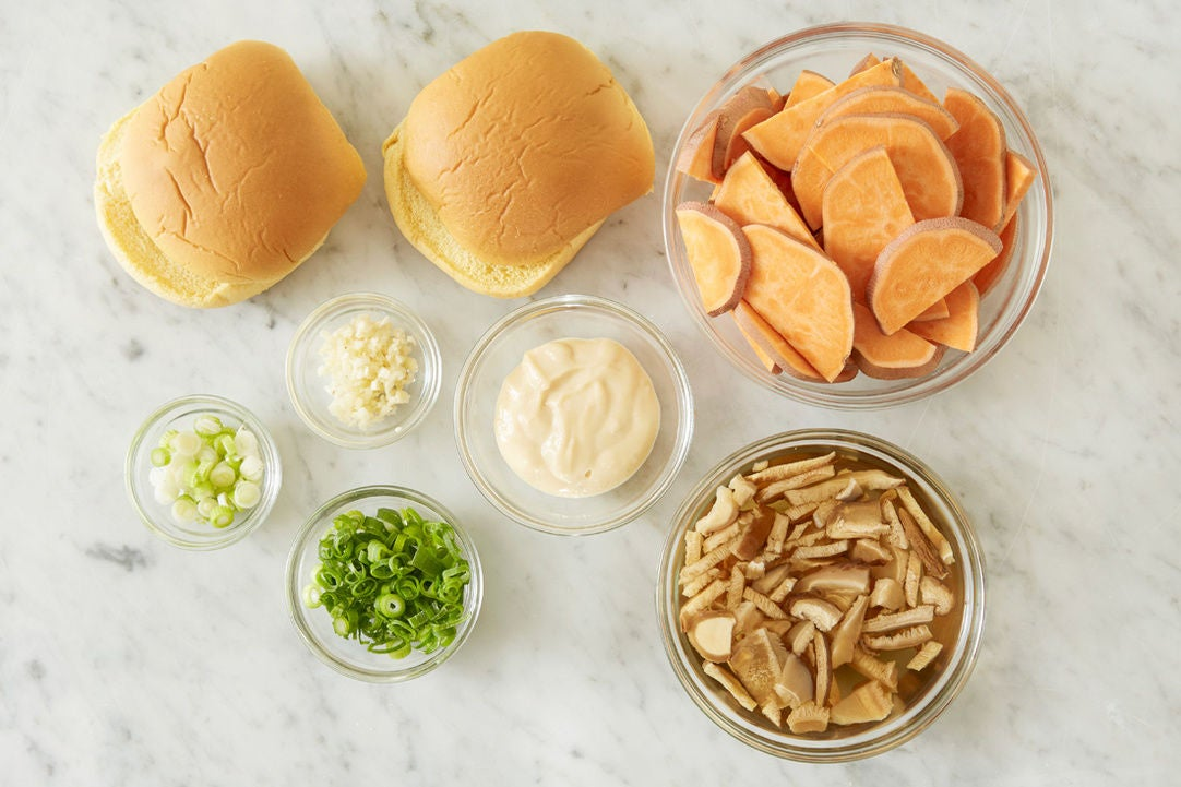 Prepare the ingredients & make the miso mayonnaise: