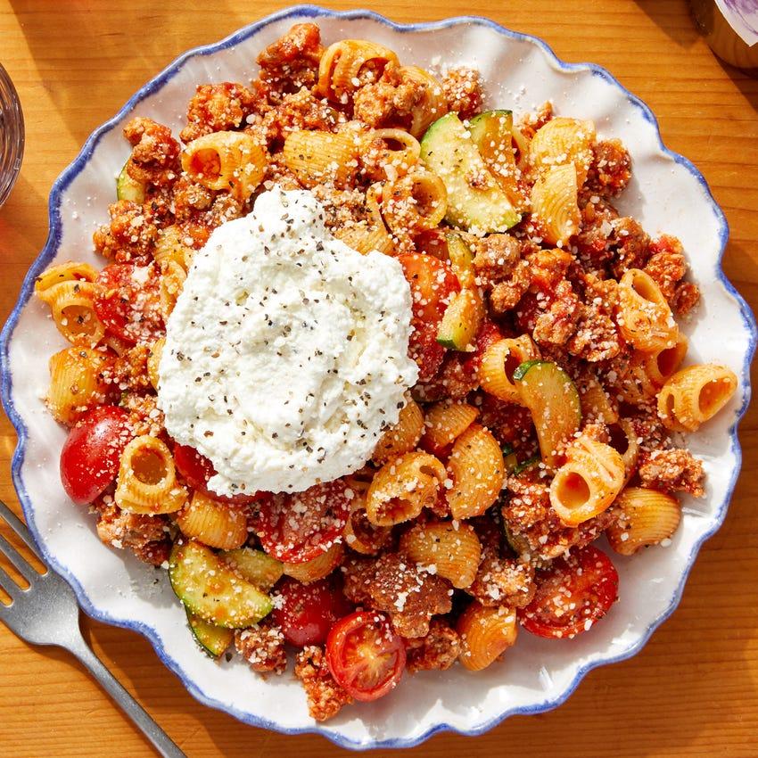 Lumaca  Rigata Pasta & Pork Ragù with Ricotta Cheese