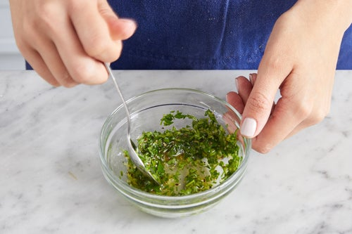 Make the gremolata & serve your dish: