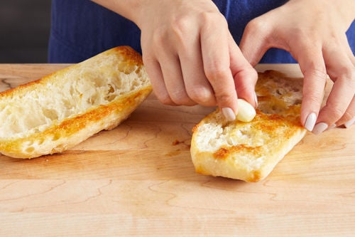 Make the garlic toast: