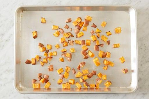 Roast the sweet potato:
