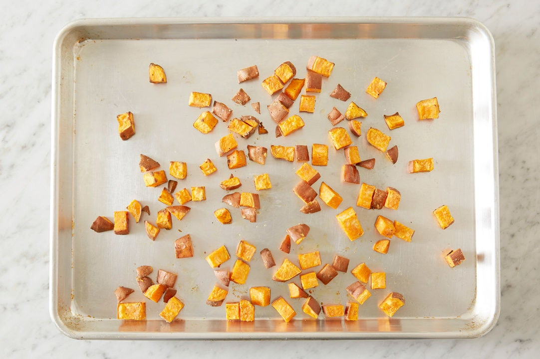 Roast the sweet potato: