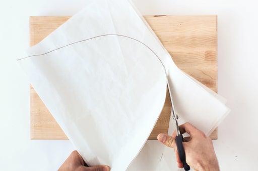 Cut out the parchment: