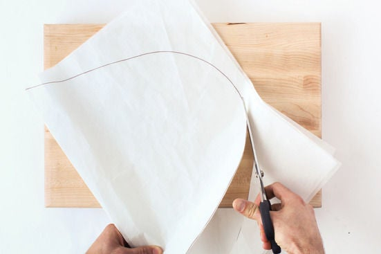 Cut out the parchment: