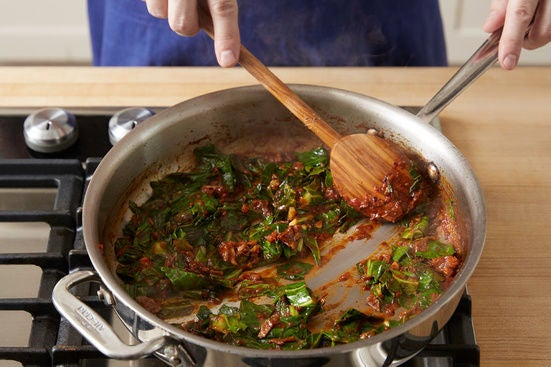 Finish the sauce: