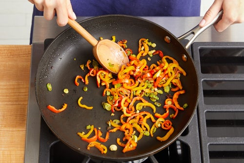 Cook & finish the peppers: