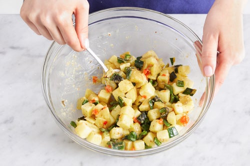 Make the potato salad & serve your dish: