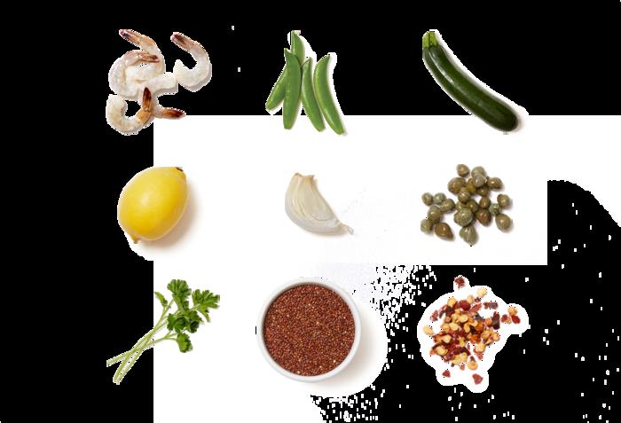 Garlic-Lemon Shrimp & Quinoa with Snap Peas & Zucchini