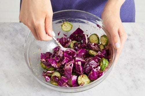 Make the slaw & serve your dish: