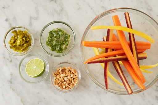 Prepare the ingredients & make the chimichurri sauce: