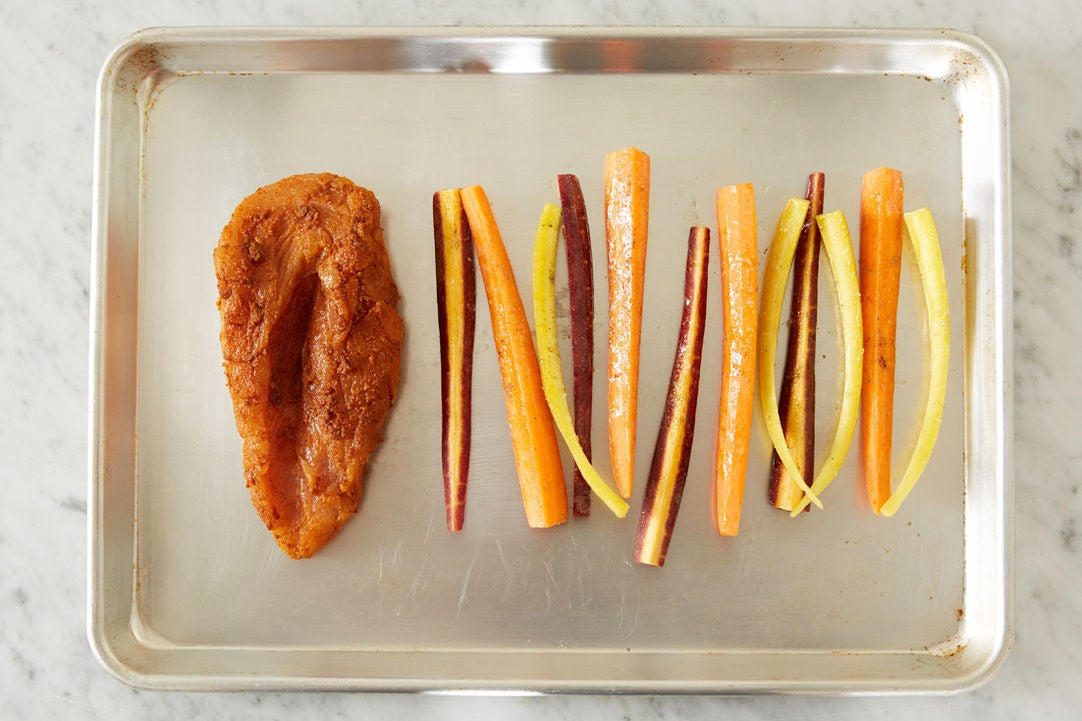 Start the turkey & carrots: