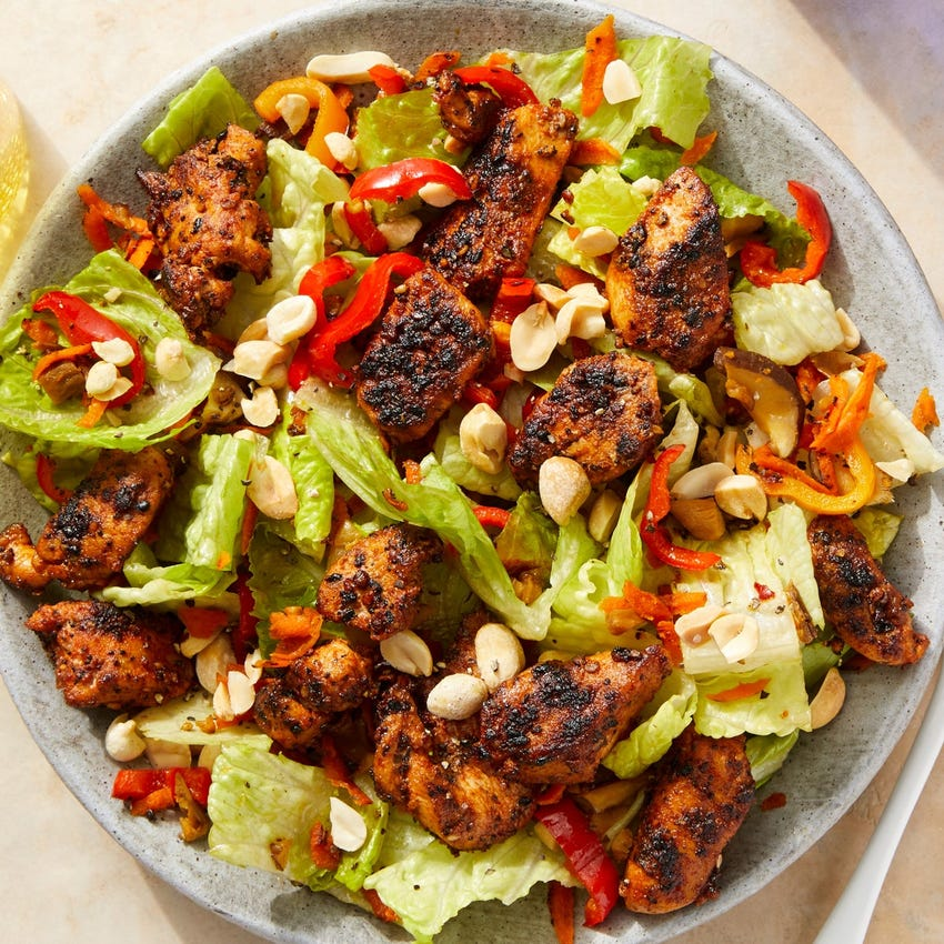 Spiced Chicken Salad with Honey-Lime Dressing