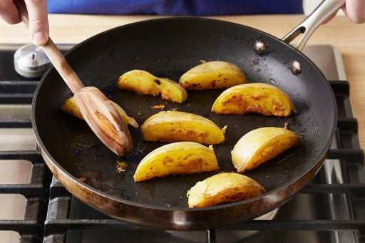 Finish the potatoes & plate your dish: