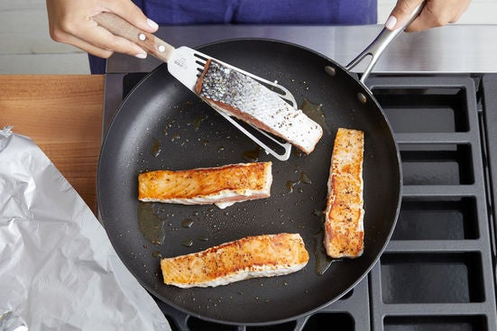 Cook the fish: