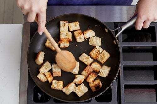 Make the croutons & start the panzanella: