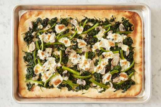 Bake the pizza: