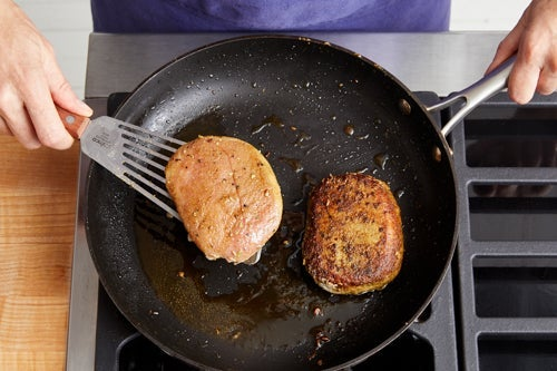 Cook the pork: