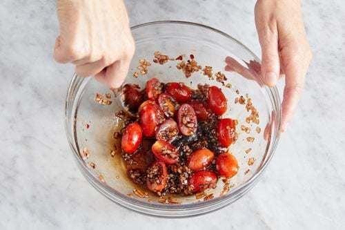 Marinate the tomatoes: