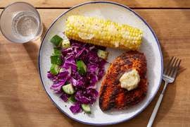 Smoky Chicken & Honey Butter with Corn on the Cob & Cabbage Slaw