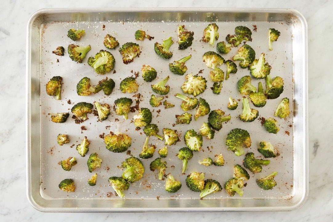 Roast the broccoli: