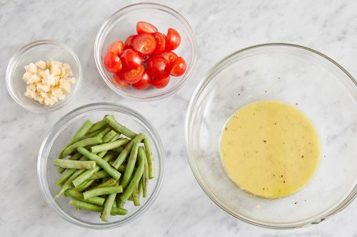 Prepare the remaining ingredients & make the dressing:
