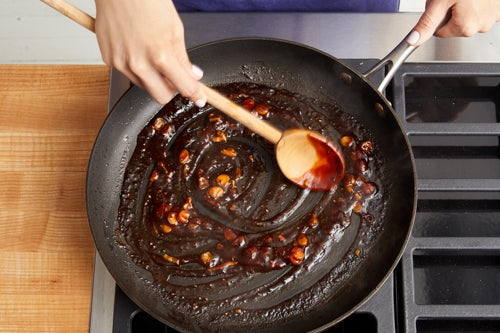 Finish the steak sauce: