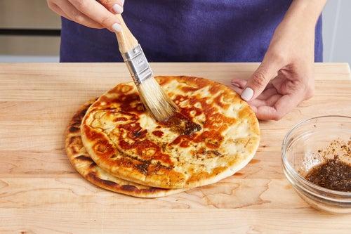 Make the pita wedges: