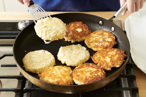 Cook the cod cakes & serve your dish: