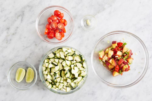 Prepare the ingredients & make the salsa: