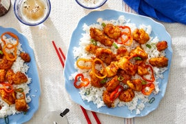 General Tso's Chicken with Jasmine Rice & Sweet Peppers