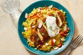 Ras El Hanout Chicken with Persian-Style Saffron Rice