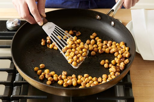 Cook the chickpeas: