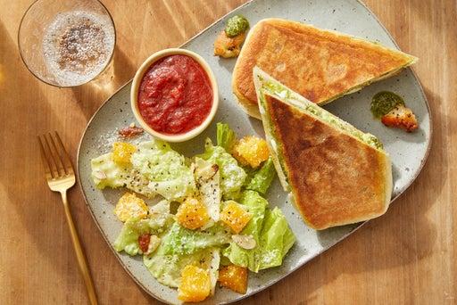 Pesto Chicken Paninis with Orange & Almond Salad