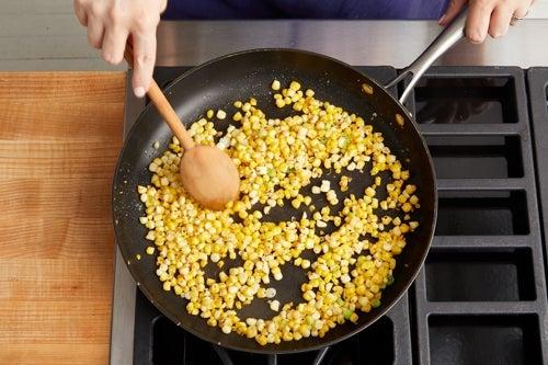 Char the corn: