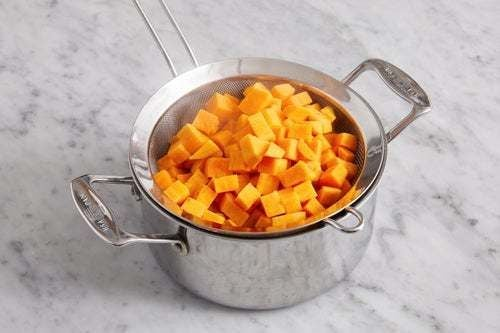 Cook the sweet potatoes: