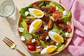 Seared Chicken & Cobb-Style Salad with Guacamole Dressing  & Goat Cheese