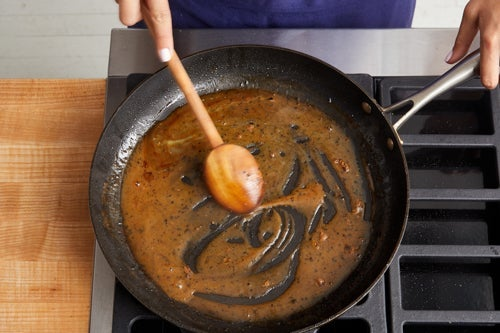 Make the pan sauce & serve your dish: