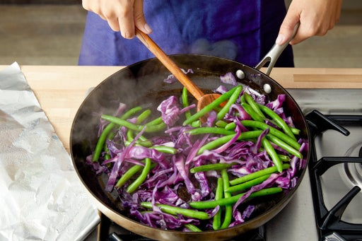 Prepare & cook the vegetables: