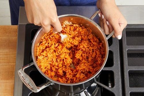 Make the guajillo rice: