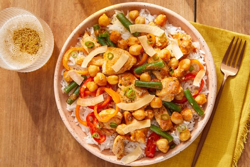 Indian-Style Chicken Curry with Green Beans & Chickpeas