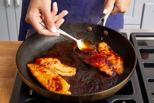 Cook & glaze the fish: