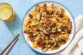 Orange Beef & Noodles with Sesame Peanuts