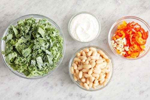 Prepare the ingredients & make the lemon yogurt: