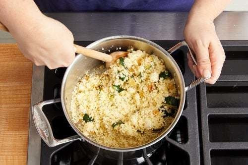 Cook & finish the couscous: