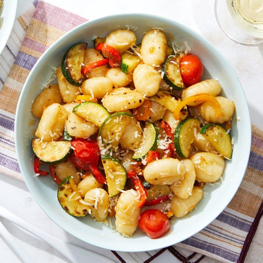 Summer Vegetable Gnocchi with Pecorino Cheese