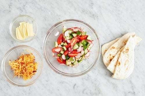 Prepare the ingredients & make the salad: