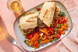 Hoisin Chicken Sandwiches with Carrot & Pepper Slaw