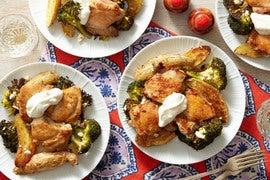 Greek Lemon Chicken with Fingerling Potatoes & Feta Cheese